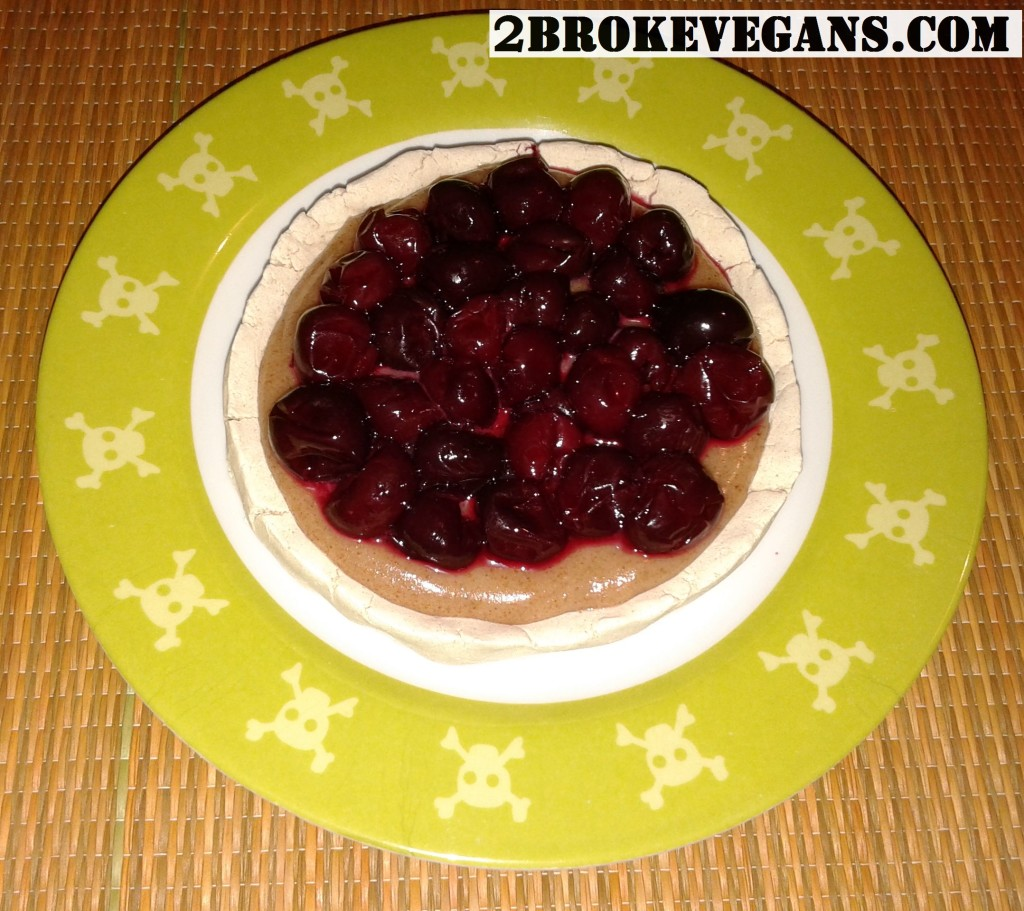 Gluten free vegan mini cherry vanilla pie