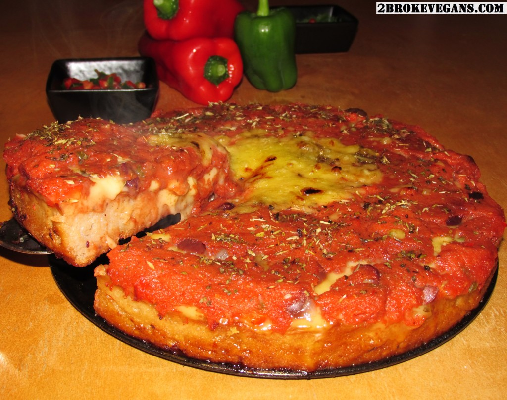 Gluten Free Vegan Deep Dish Pizza