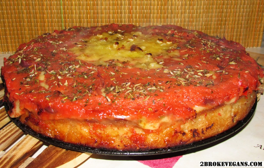 Gluten Free Vegan Deep Dish Pizza - Chicago Style
