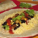 Black Bean and Rice Burrito