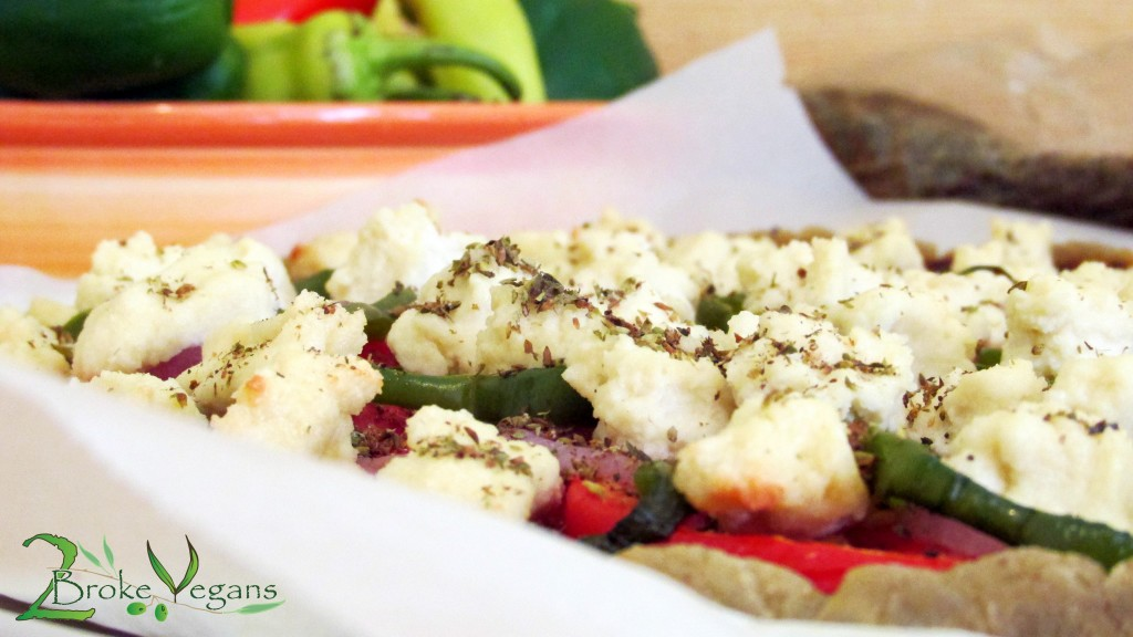 Homemade Vegan Feta Cheese On Pizza Recipe