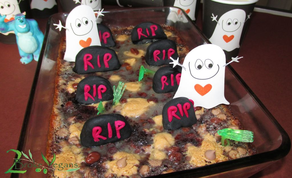 Party In The Graveyard Brownies Vegan Gluten Free Halloween Brownie Recipe