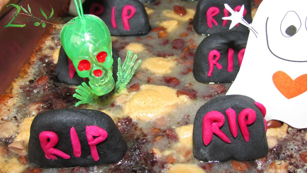 Party In The Graveyard Brownies Gluten Free Vegan Halloween Recipe