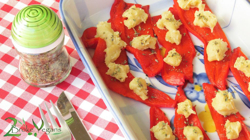 Roasted Red Peppers With Vegan Feta Cheese Dairy Free Gluten Free Recipe