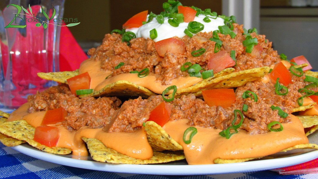 Vegan Nachos Bell Grande Vegan Cheese Vegan Minced Taco Meat Recipe