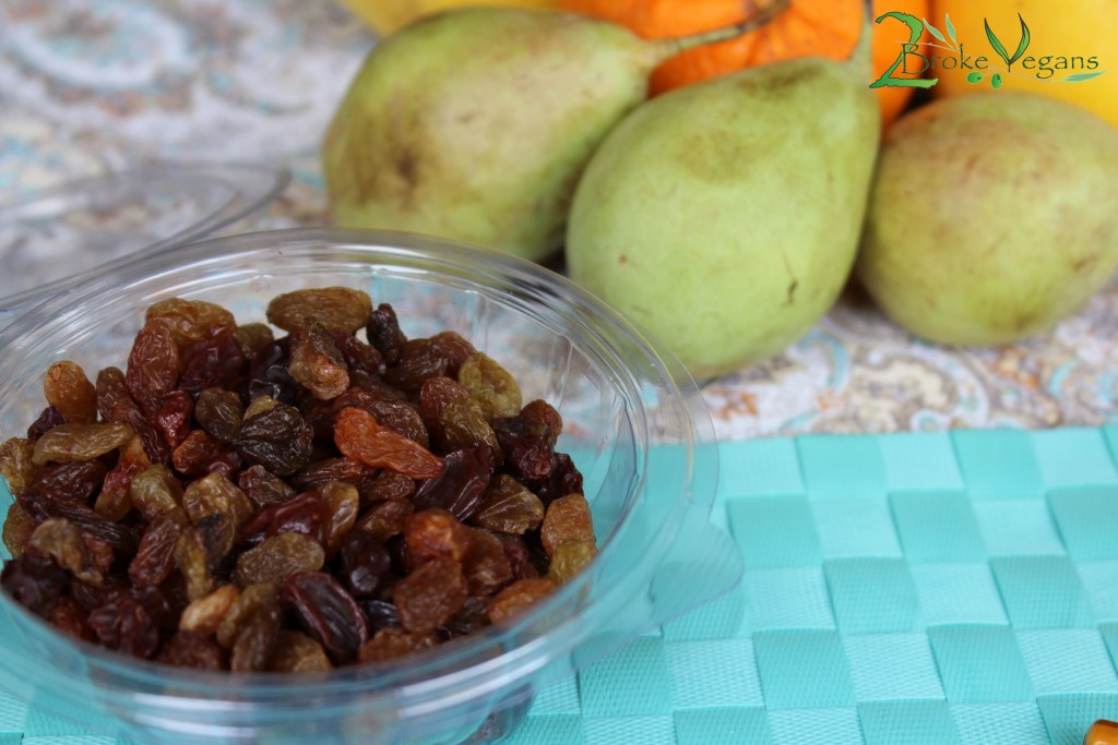 Cashew Cream Fruit Salad Raisins