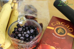 Chocoberry Smoothie Ingredients