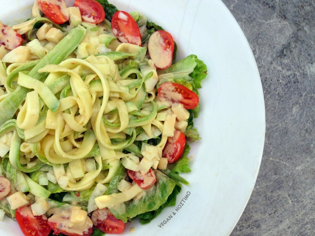 Zucchini Noodles with a Peanut Butter Sauce