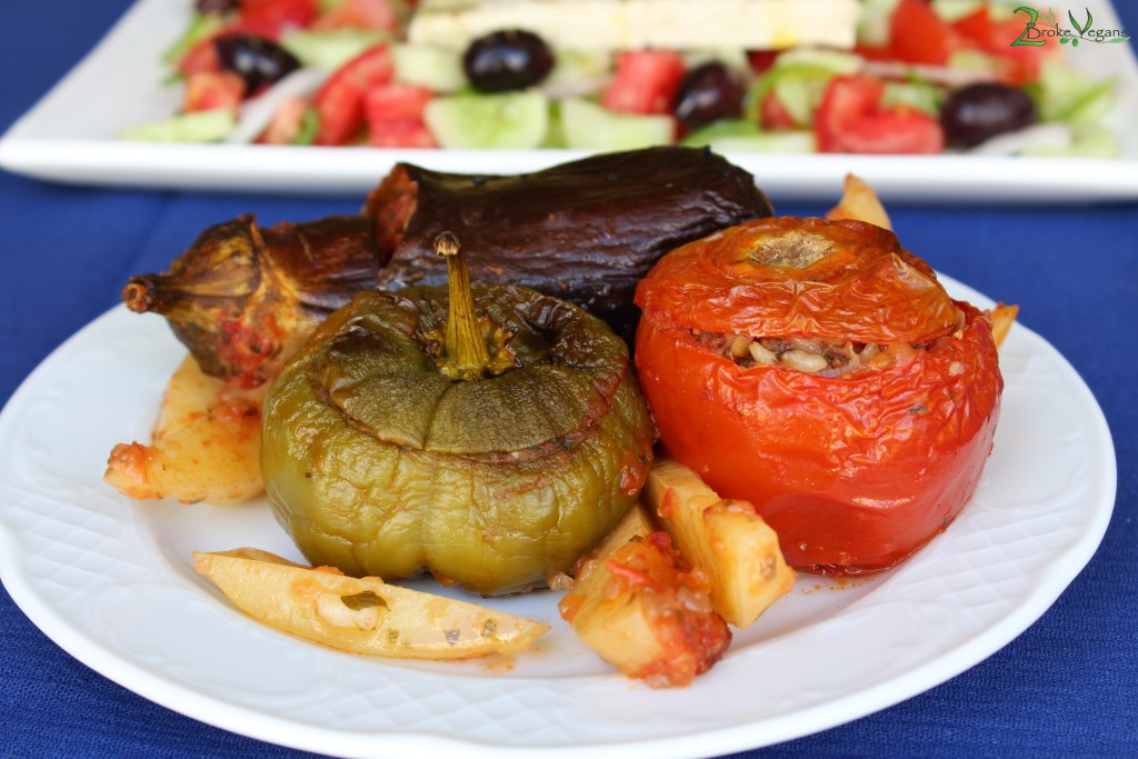 Yemista - Greek Stuffed Vegetables Vegan Recipe Gluten Free Soy Free
