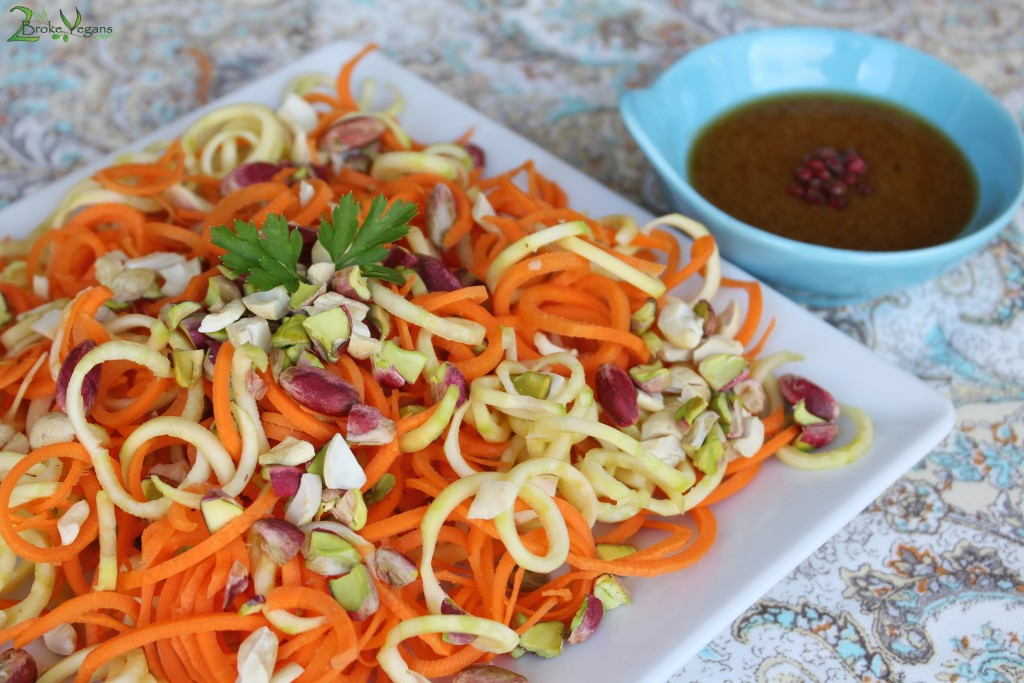 Steamed Lemon Ginger Carrot and Zucchini Noodles Recipe Gluten Free Dairy Free Soy Free